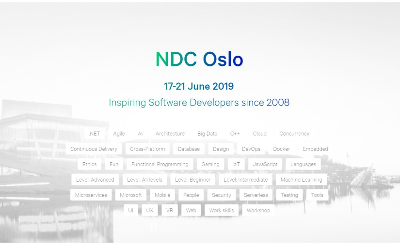 NDC Oslo Coming Up!